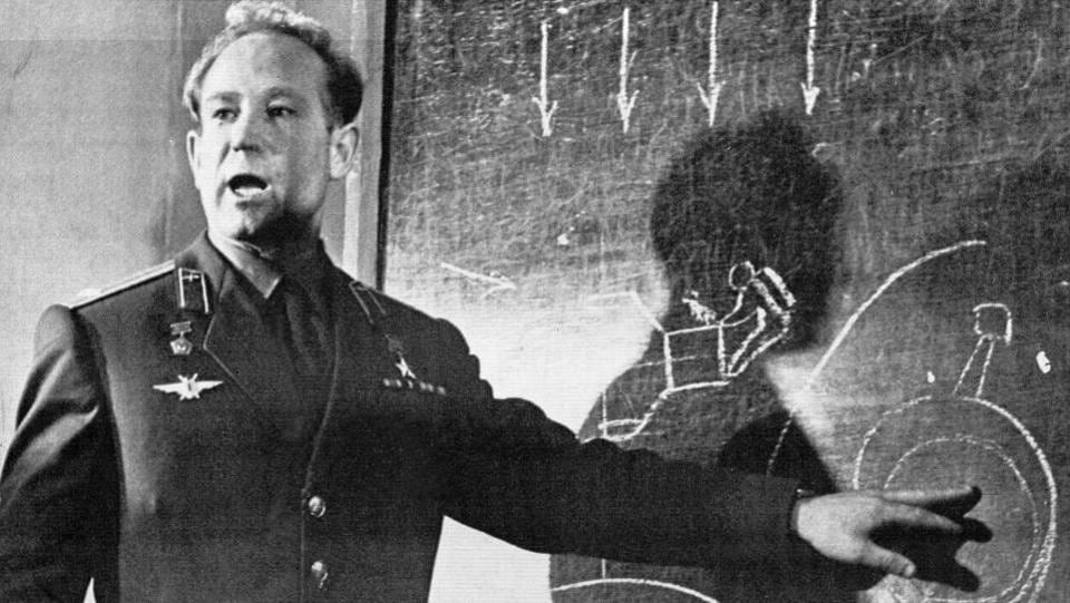 Cosmonaut Alexei Leonov speaks in Moscow  on March 26, 1965. Leonov was the first human to walk in space after he stepped out from the Voskod-2 spaceship on March 18th the same year. He died in Moscow yesterday after a long illness, aged 85. Leonov became a legend at home and his feats were immortalised in cinema and literature. A crater on the far side of the Moon was named after Leonov in 1970. (AP File)