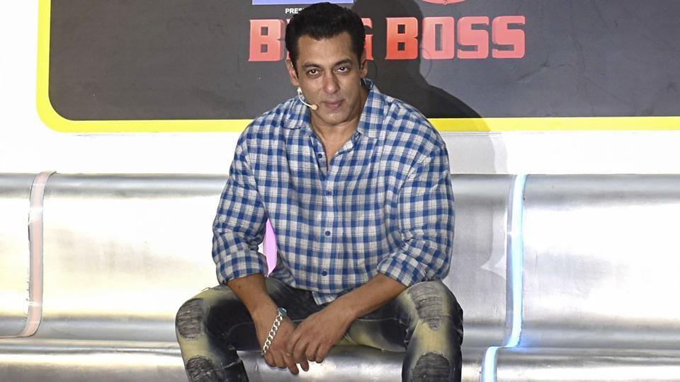 Salman Khan poses for photographs during the launch of Bigg Boss 13 in Mumbai.
