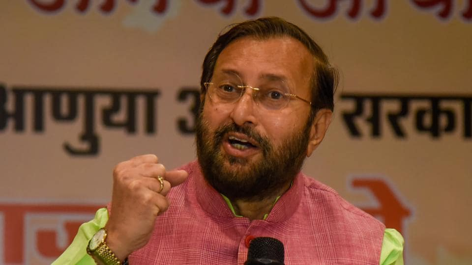 Prakash Javadekar addressing a press conference in the city on Saturday.