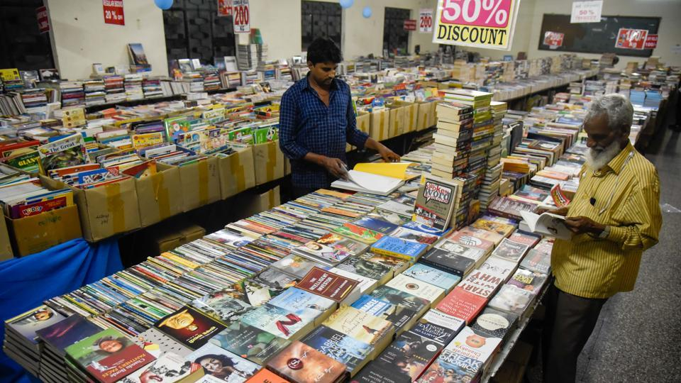 The book exhibition is crowded during evenings and weekends with Sunday being the most busy day for the exhibition organisers
