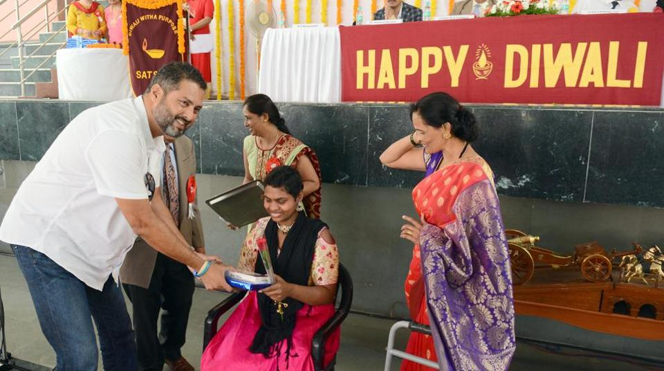 Cancer patients were felicitated at 'Diwali with a purpose' event held on Saturday at Sanjog Hall.