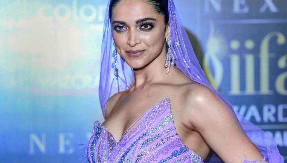 Deepika Padukone arrives for the 20th IIFA Awards ceremony in Mumbai.