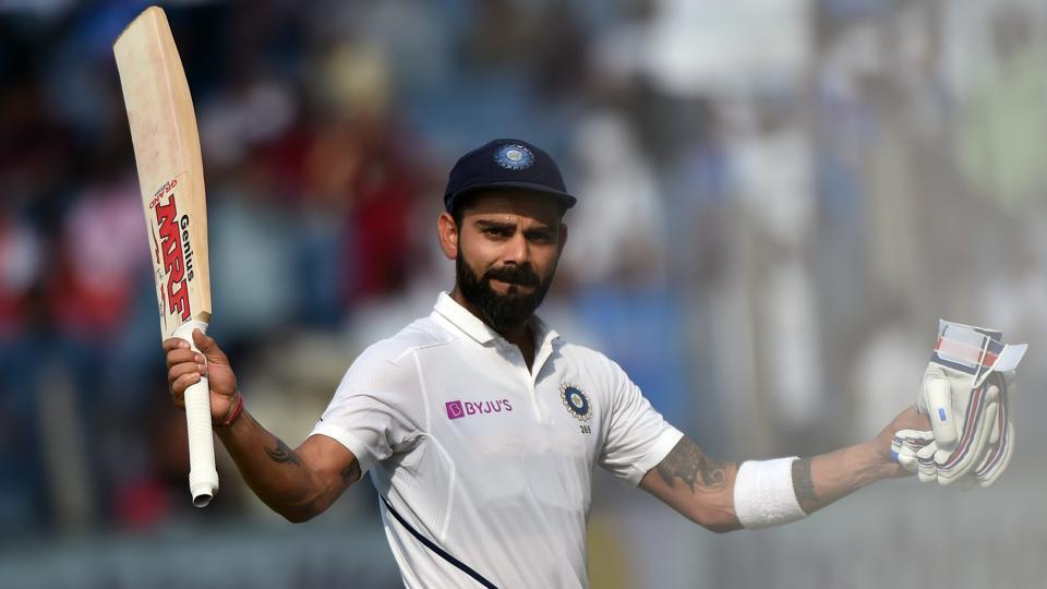 Indian Cricket Team captain Virat Kohli in action during the second test match against South Africa, at Maharashtra Cricket Association Stadium, Gahunje, in Pune, Maharashtra. Kohli surpassed many records with his unbeaten 254 runs in the match. (Pratham Gokhale / HT Photo)