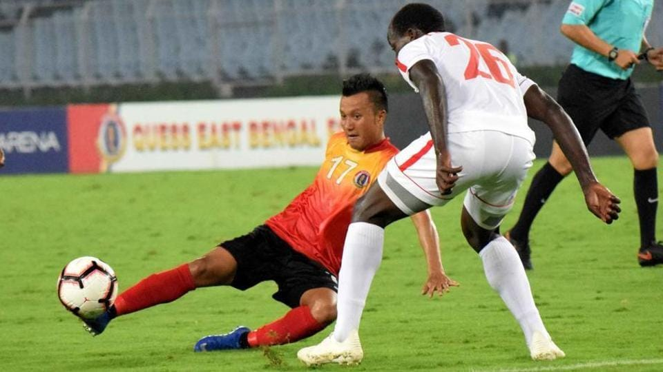 I-League football club in action.