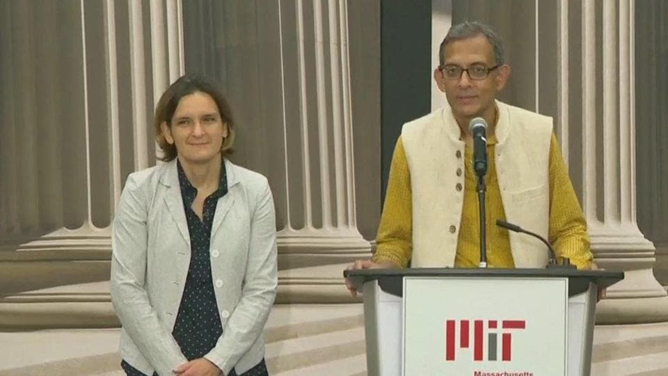 Nobel laureate Abhijit Banerjee and his French-American wife Esther Duflo. Both of them are joint winners for the 2019 Nobel Prize for Economics along with Michael Kremer.