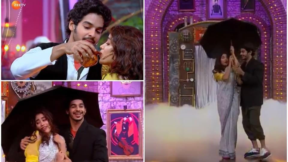 Janhvi Kapoor and Ishaan Khatter made an appearance on Maniesh Paul's show.