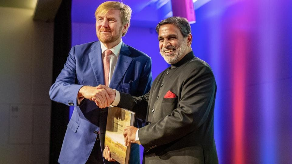 Indian Ambassador  to Netherlands Venu Rajamony at the release of his book