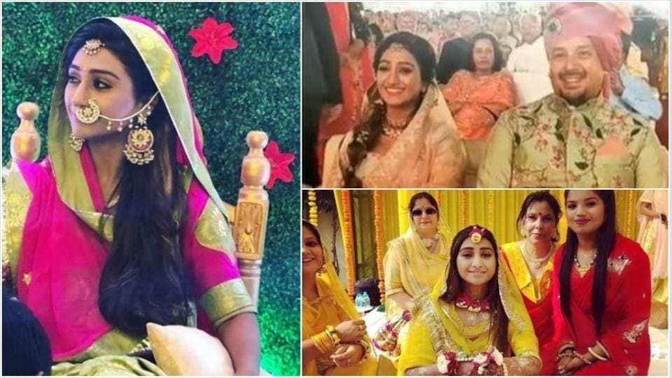 Mohena Singh enjoying her wedding festivities with family and friends.