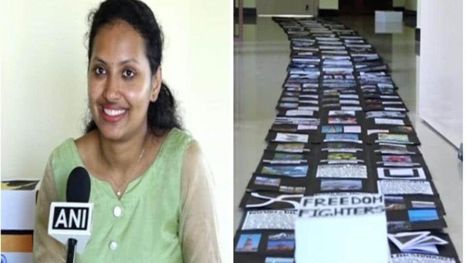 Apeksha Kottary, has entered the India Book of Records for making the longest gift item.