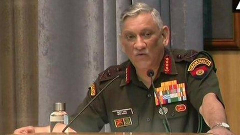 Army chief General Bipin Rawat in New Delhi on Tuesday.