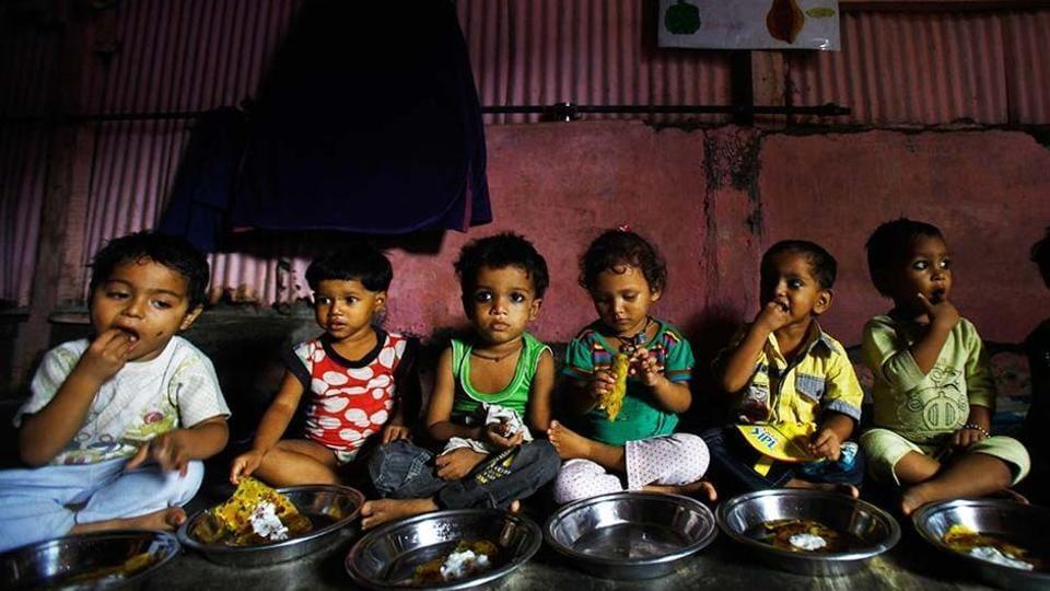 World Food Day 2019: Malnourished children eat at Apanalaya, Mumbai, an organisation working for the betterment of slum children.