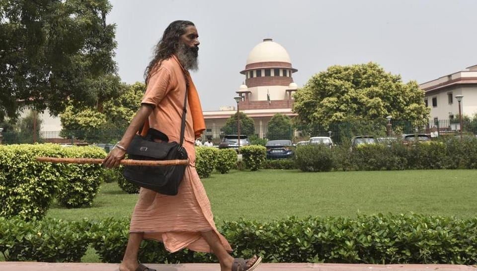"""A five-judge bench led by Chief Justice Ranjan Gogoi, is hearing cross-appeals against the Allahabad high court's 2010 verdict, delivered in four civil suits, that the 2.77-acre disputed land in Ayodhya be partitioned equally among the three parties — the Sunni Waqf Board, the Nirmohi Akhara and """"Ram Lalla Virajman""""."""