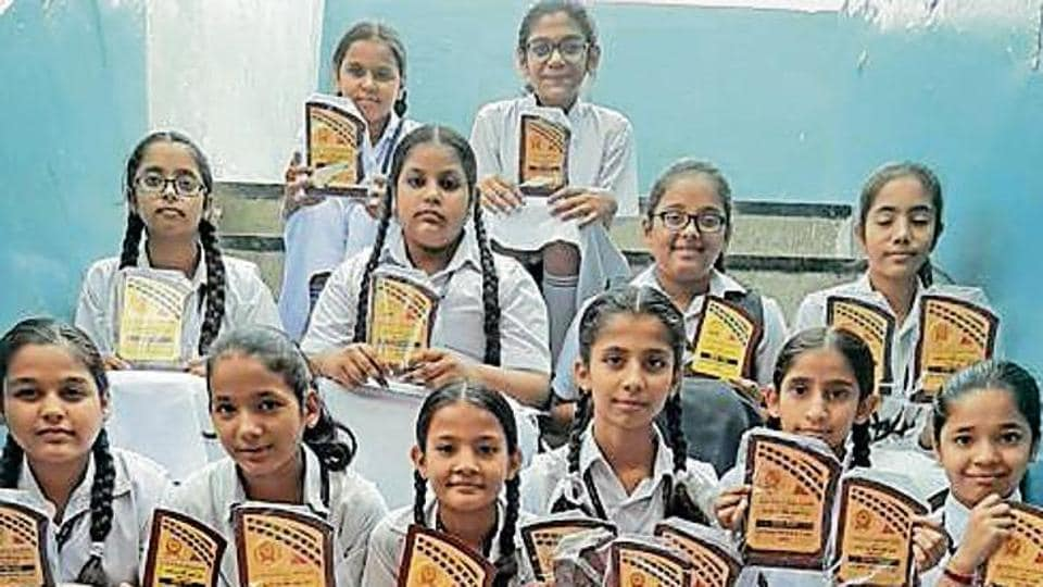 Pupils of Sharda school Chandigarh take part in cultural event.