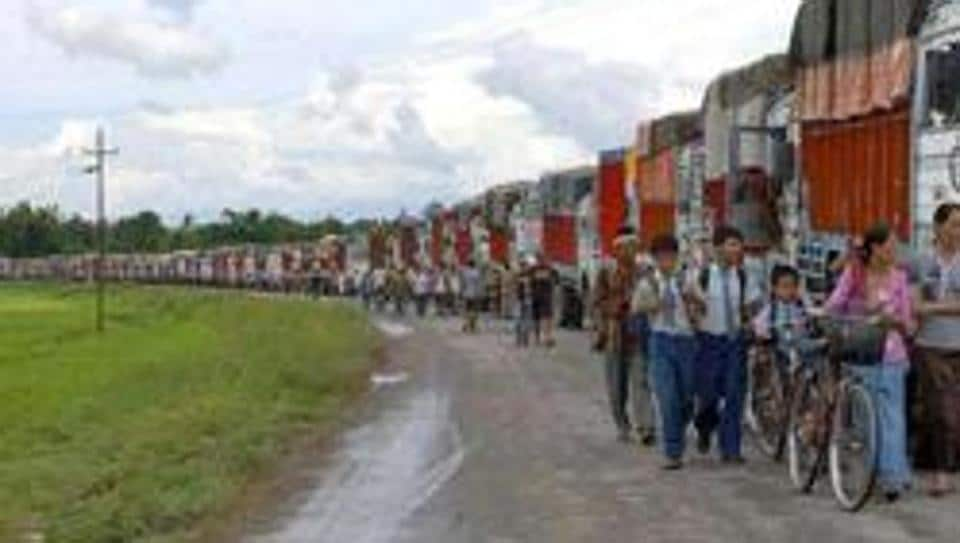 The shutdown affected life in Manipur where transport went off the roads.