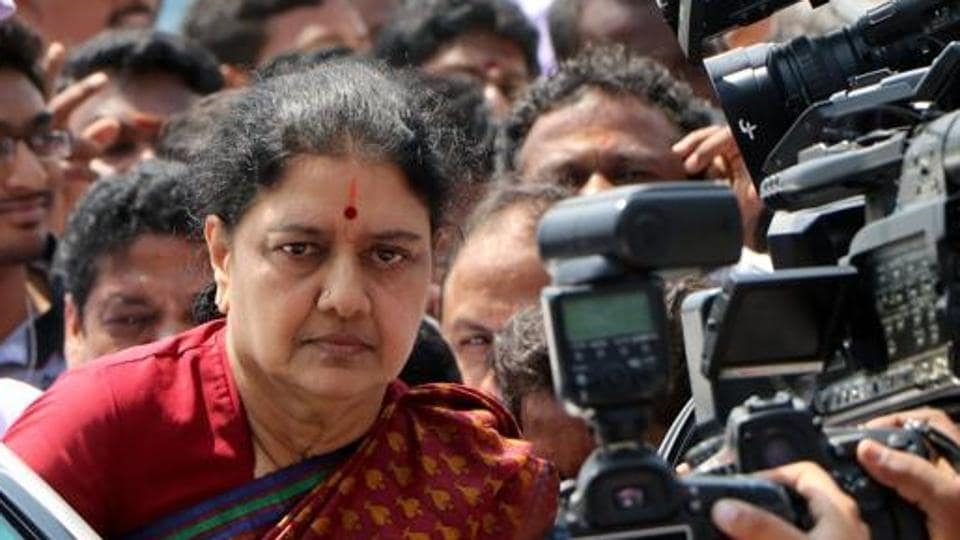 VK Sasikala is serving a four-year jail term for corruption.