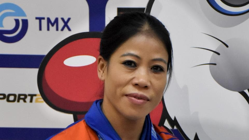 India boxer Mary Kom poses for the camera.