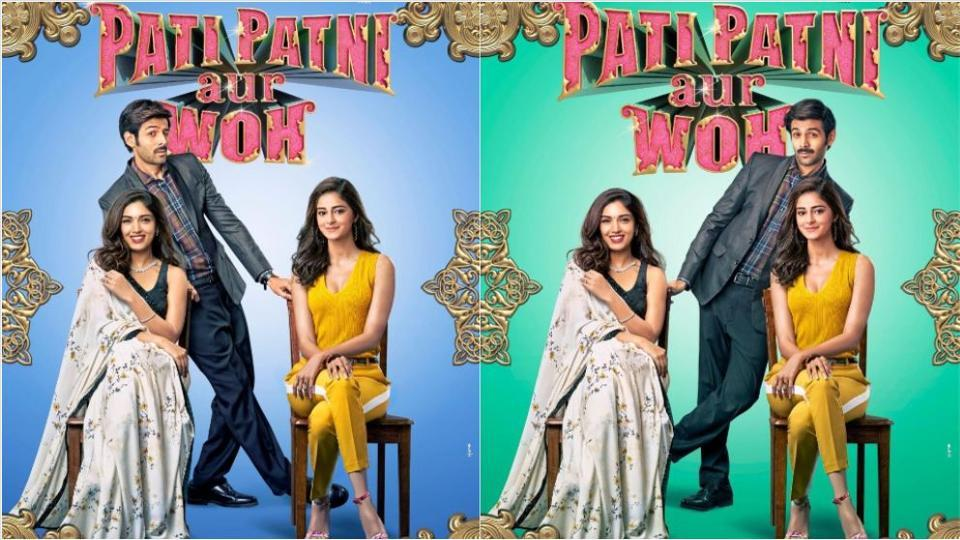 Pati Patni Aur Woh posters: The makers have released two posters featuring Kartik Aaryan, Bhumi Pednekar and Ananya Panday.