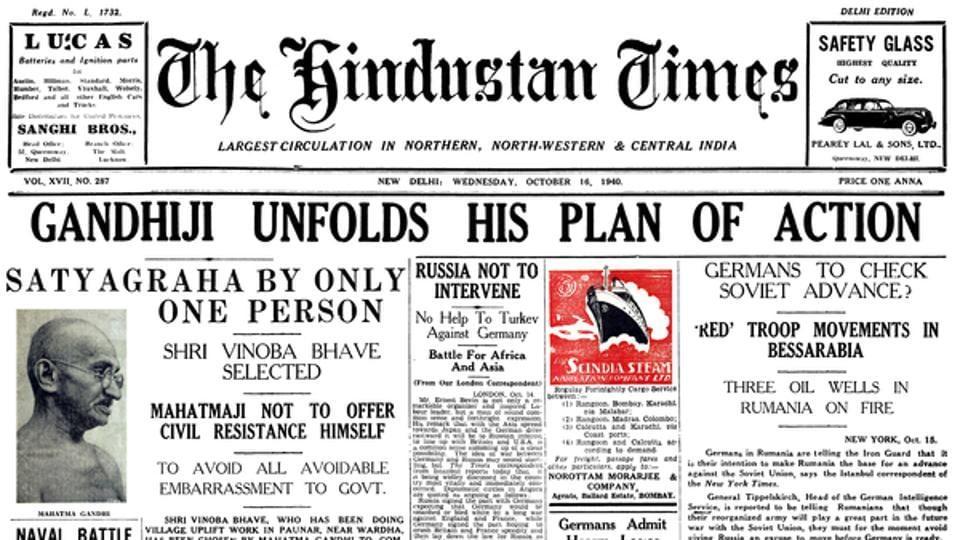 Gandhiji unfolds his plan of action.