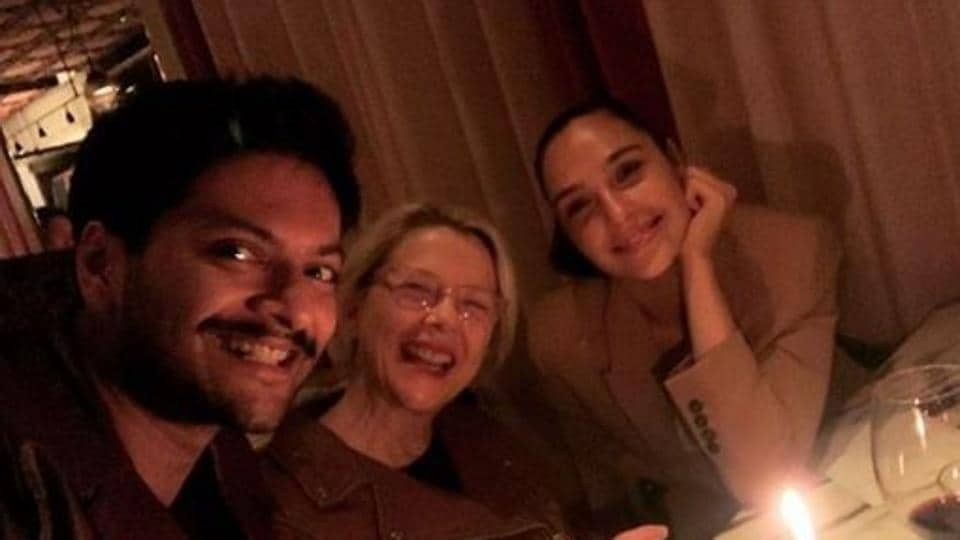 Ali Fazal with Annette Bening and Gal Gadot.