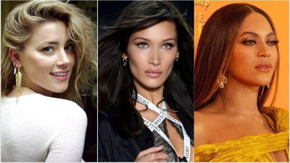 Amber Heard, Bella Hadid and Beyonce have the most 'perfect' faces in the world.