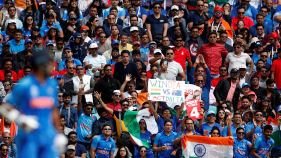 File image of Indian fans cheering.