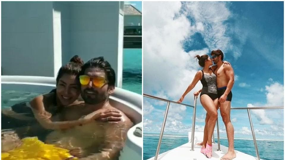 Debina Bonnerjee and Gurmeet Choudhary shared pictures from their Maldives vacation.