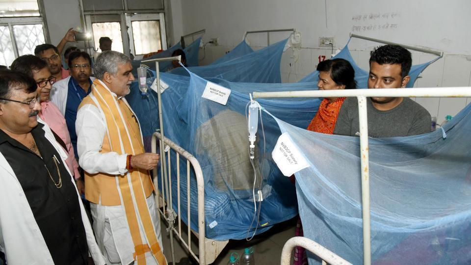 Union Minister of State for Health and Family Welfare, Ashwini Kumar Choubey in Patna Medical College & Hospital in Patna,  Oct 15,2019