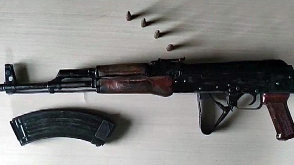 The constable  shot himself dead with an AK47 rifle.