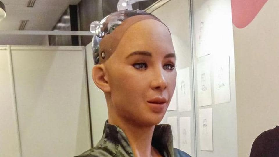 The delicate looking woman robot with doe-brown eyes and long fluttering eyelashes, who mesmerised the world when she was activated in 2016, is getting smarter by the day.