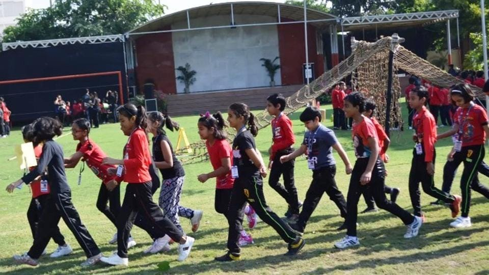 The camp helped children develop basic athletic skills.