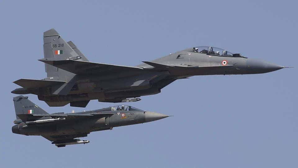 The Indian Air Force (IAF) on Wednesday launched fighter jets from four civilian airports in the country's east.