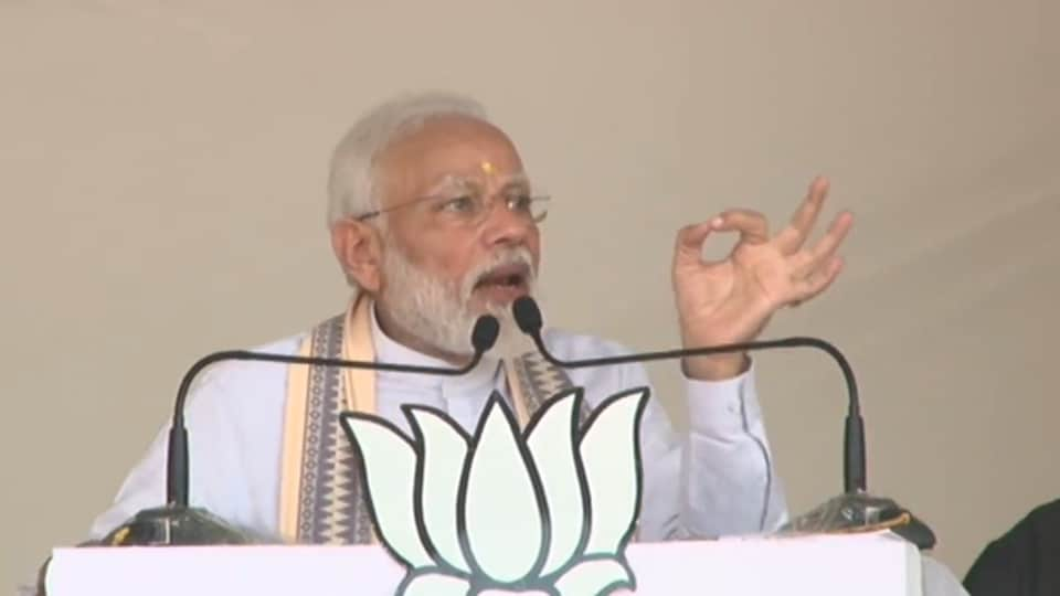 PMModi addressed an election rally in Parli, Maharashtra on October 17, 2019.