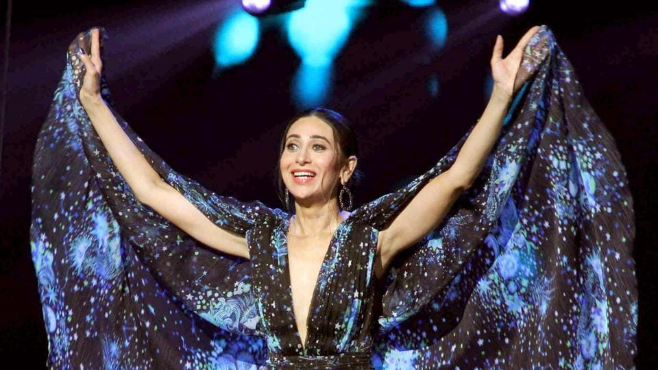 Karisma Kapoor performs on sets of Dance India Dance in Mumbai.