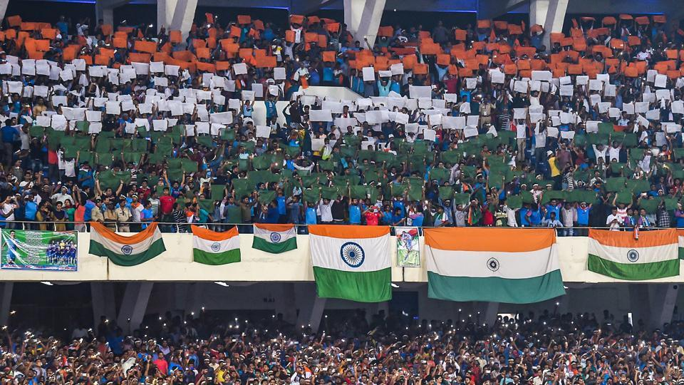 File image: Indian football team supporters cheer during FIFA World Cup Qatar-2022 Qualifier match between India and Bangladesh, at Salt Lake Stadium.