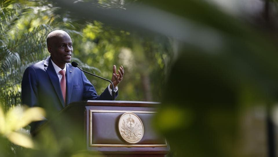 "President Jovenel Moïse broke his silence Tuesday and said it would be irresponsible for him to resign amid unrest. ""However long it takes, I am ready for dialogue. We don't want to have another 1986,"" Moïse said, referring to the year that then President Jean-Claude ""Baby Doc"" Duvalier fled Haiti following lengthy demonstrations. (Rebecca Blackwell / AP)"