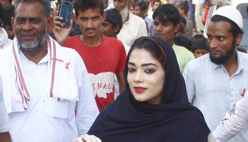 BJP candidate Nauksham Chaudhary from Punhana constituency campaigning at Rajpur village,  Haryana,  on Thursday, October 10, 2019.