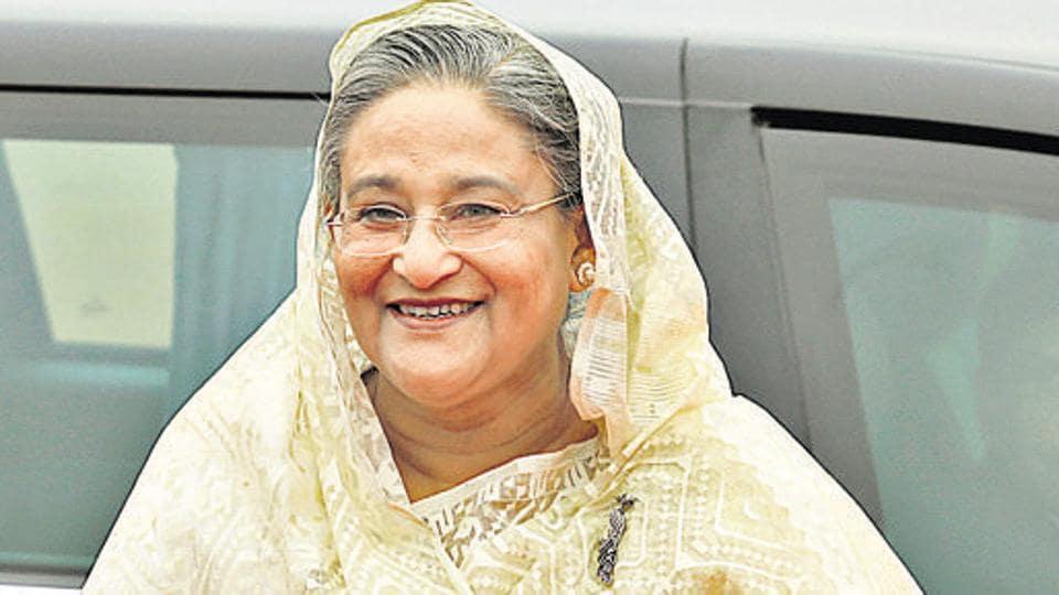 Afile photo of Bangladesh PM Sheikh Hasina.