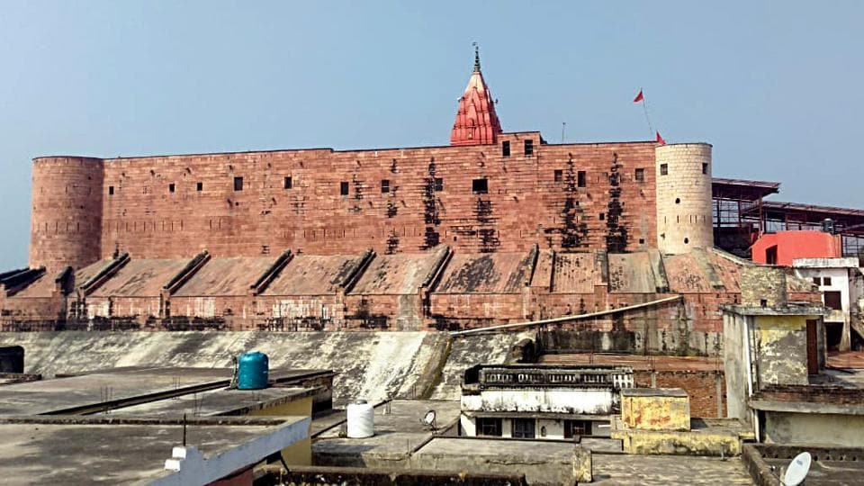 A general view of Ayodhya City on Wednesday.
