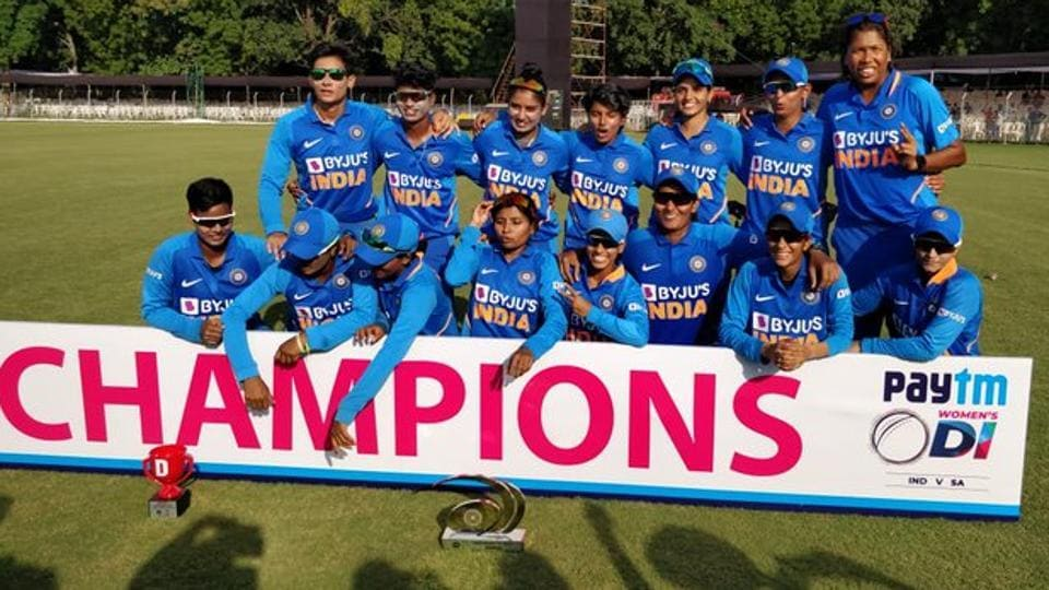 Indian women's cricket team completed 3-0 whitewash against South Africa.