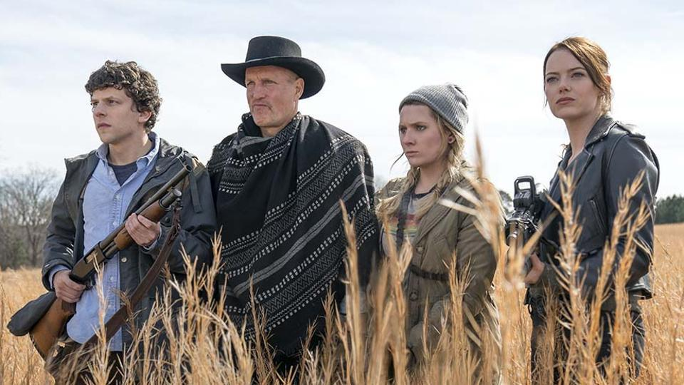 Zombieland Double Tap movie review: Columbus (Jesse Eisenberg), Tallahassee (Woody Harrelson), Little Rock (Abigail Breslin) and Wichita (Emma Stone) in a still from Ruben Fleischer's zombie sequel.