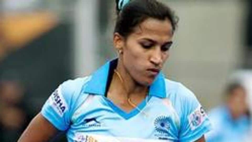 Indian women's hockey captain Rani Rampal in action.