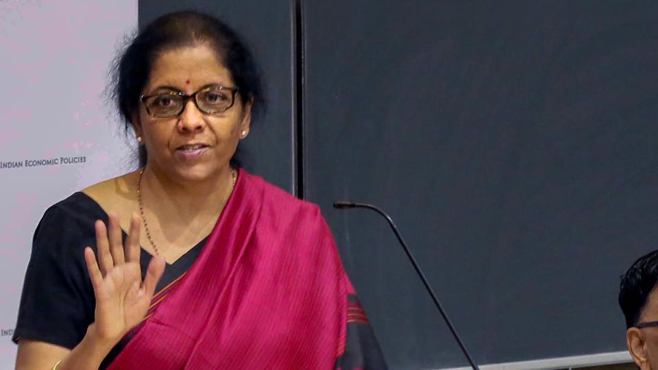 Union finance minister Nirmala Sitharaman  at Columbia University in New York, Tuesday, Oct.15, 2019.