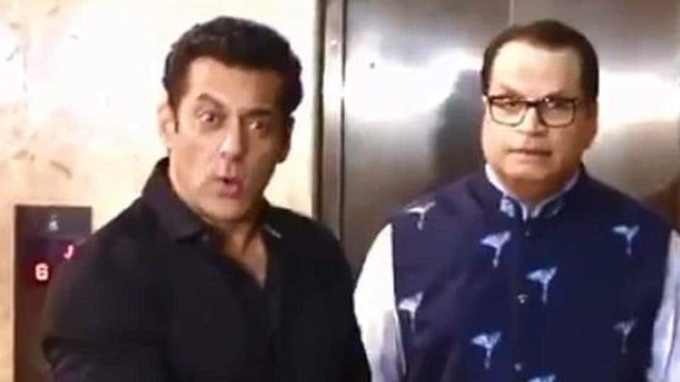 Salman Khan in a screengrab from the video.
