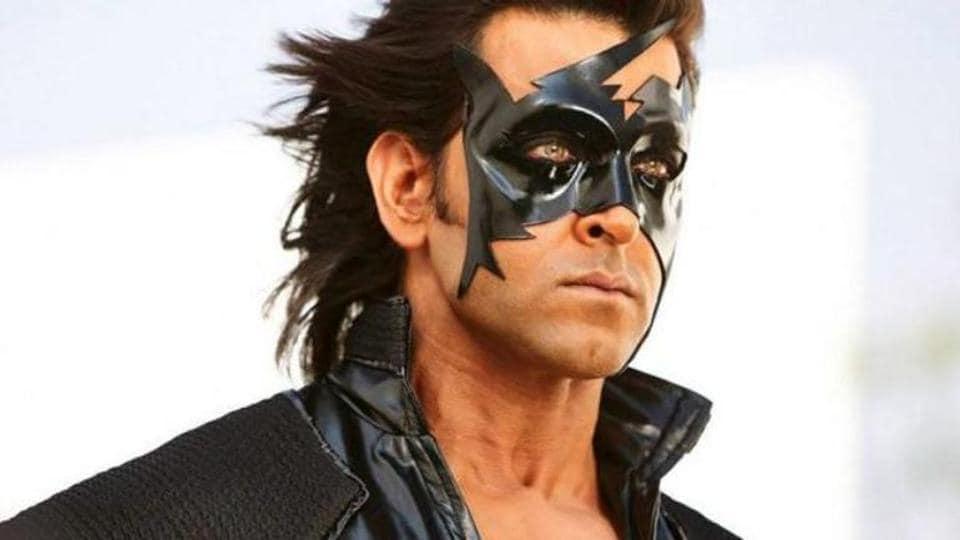 Hrithik Roshan as the superhero Krrish.