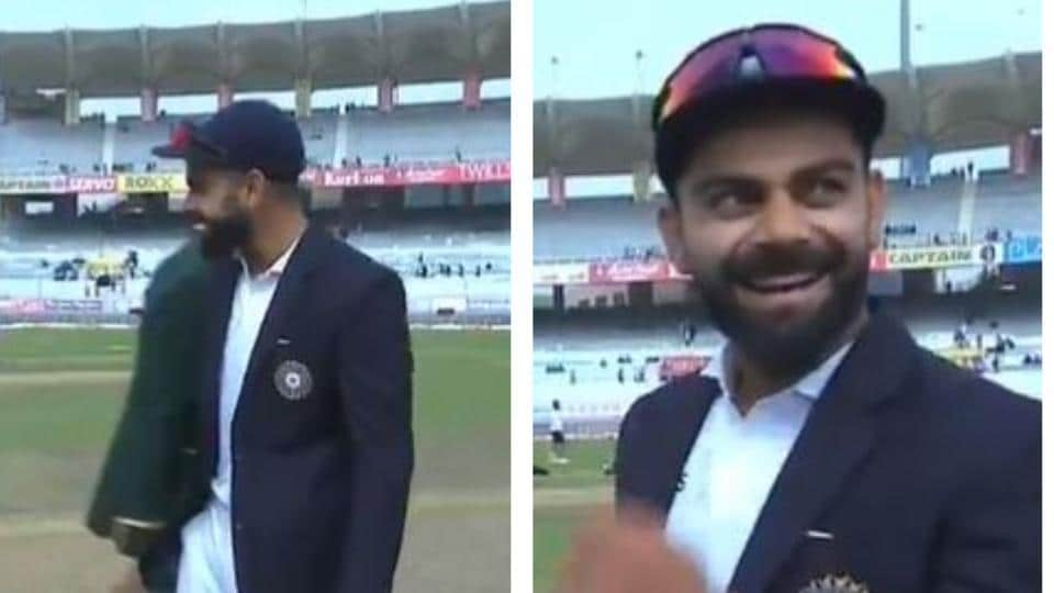 India captain Virat Kohli could not control his laughter at toss of the 3rd Test against South Africa