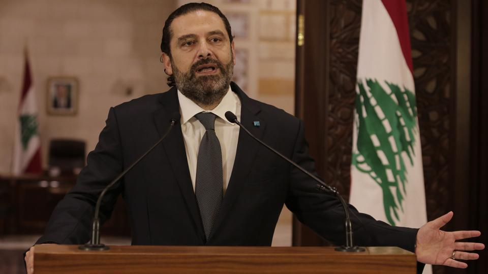 Lebanese Prime Minister Saad Hariri speaks during an address to the nation, in Beirut. The steps needed to fix the national finances have long proven elusive. Sectarian politicians, many of them civil war militia leaders, have long used state resources for their own political benefit and are reluctant to cede prerogatives. The crisis has been compounded by a slowdown in capital flows to Lebanon, which has depended on remittances from its diaspora to meet financing needs. (Hassan Ammar / AP)