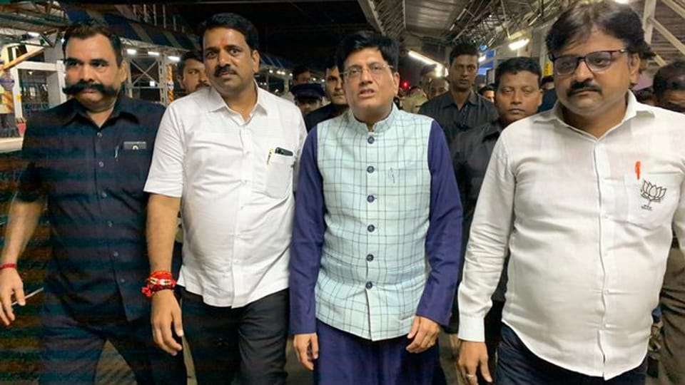 Goyal was referring to the stay granted by the Supreme Court on the construction of a new international airport in Goa.  (Photo @PiyushGoyal)