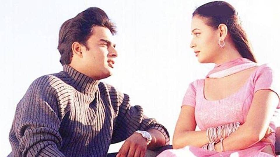 Dia Mirza and R Madhavan in a still from Rehnaa Hai Terre Dil Mein.