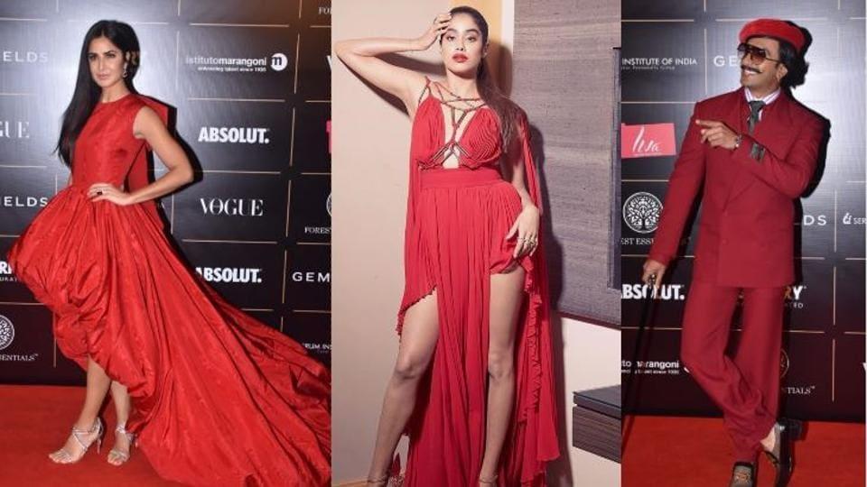 Katrina Kaif, Janhvi Kapoor, Ranveer Singh walk the red carpet at Vogue Women of the Year Awards.