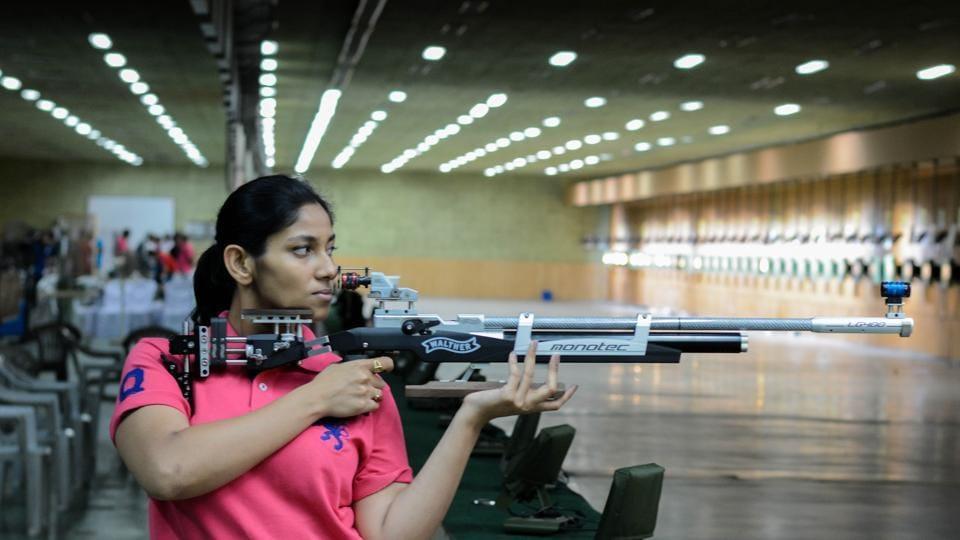 Ayonika Paul won silver in the 10m air rifle at the All India Railway Rifle Shooting Championship at Balewadi stadium on Saturday.